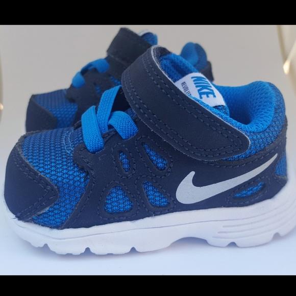 NEW baby boy Nike revolution 2 shoes Size 2c. M 5b8a9cd445c8b3d86e55ab1f 72b40bb20